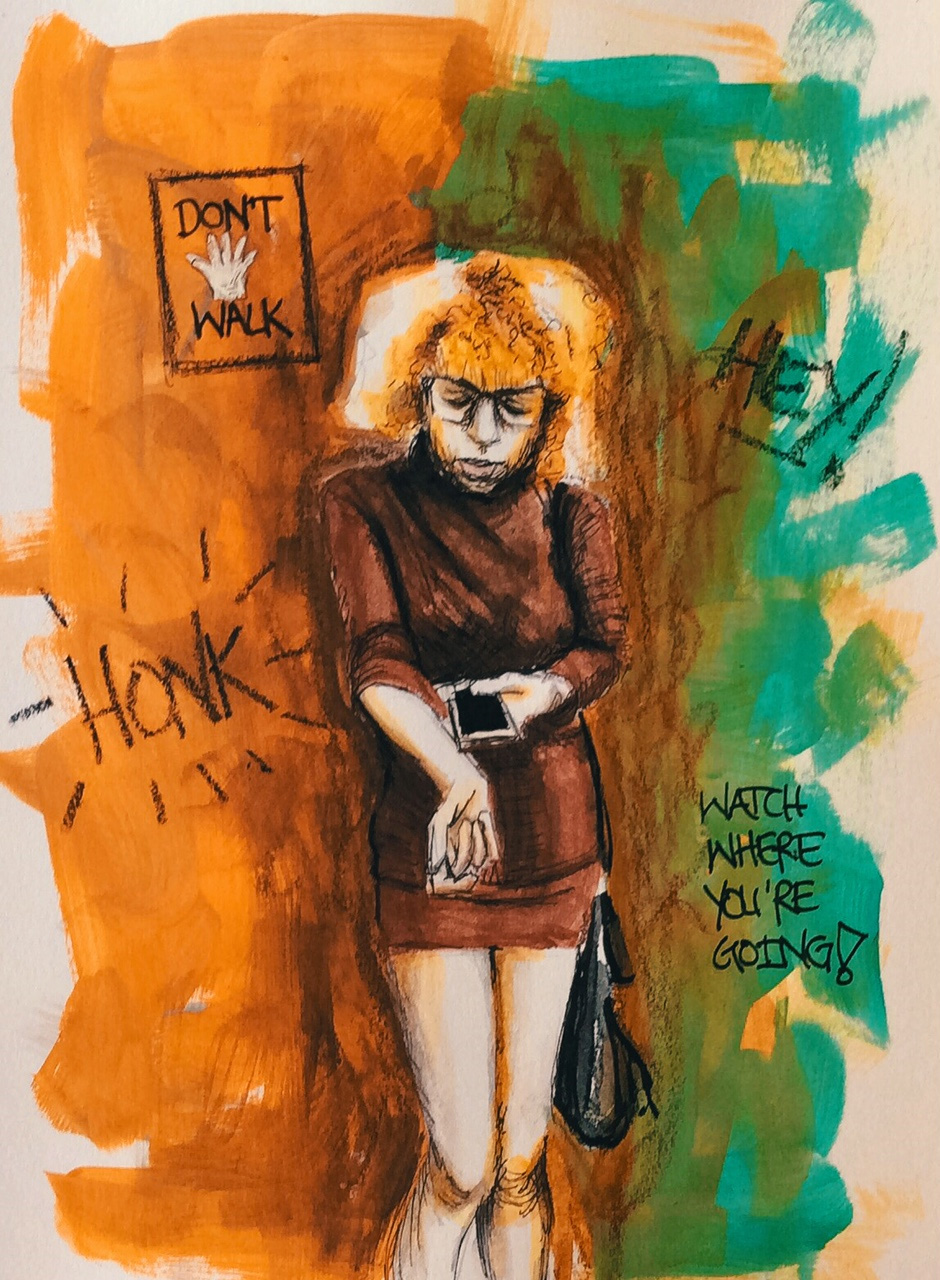 "Mixed Media: ""Don't Text and Walk"""